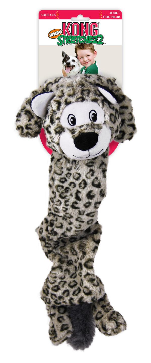 KONG Strectchezz Jumbo Sneeuwluipaard XL