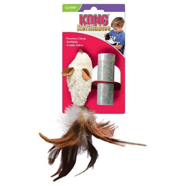 KONG Feather Muis Catnip
