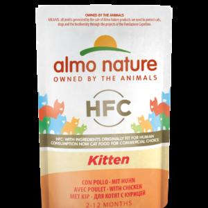 Almo Nature Kat HFC Natvoer - Kitten - Pouch 24 x 55g