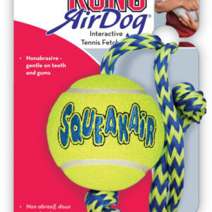KONG Air Squeaker Ball + Touw M