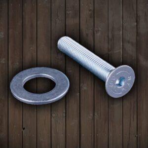 Rufi Drapaki Schroef + Ring M10 kort 60mm