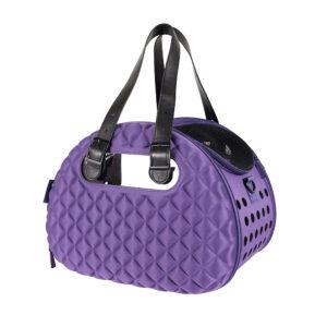 Diamond DeLuxe Pet Carrier - Dark Purple