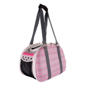 Pet Hardshell Travel Carrier - Pink Chevron