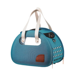 The Bubble Hotel Semi-Transparant Pet Carrier - Turquoise