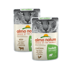 Almo Nature Kat- Holistic Natvoer- Anti Hairball- Pouche 30 x 70g
