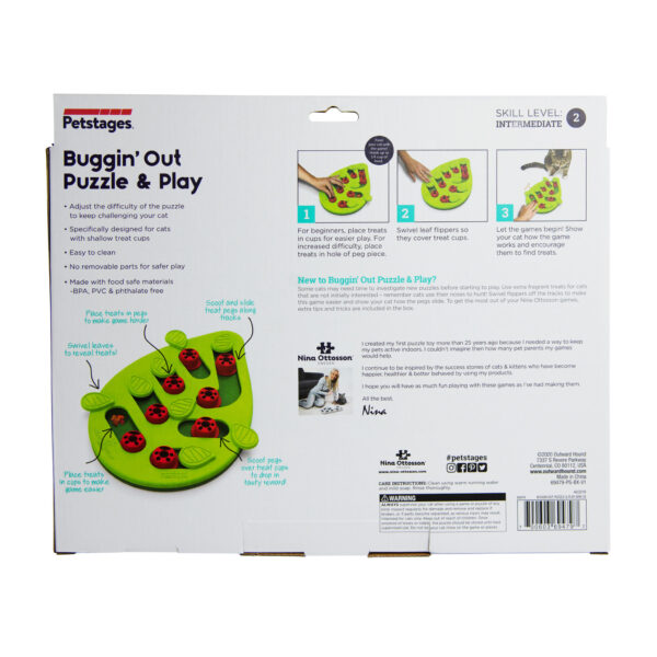 Petstages Cat Puzzle & Play Buggin Out