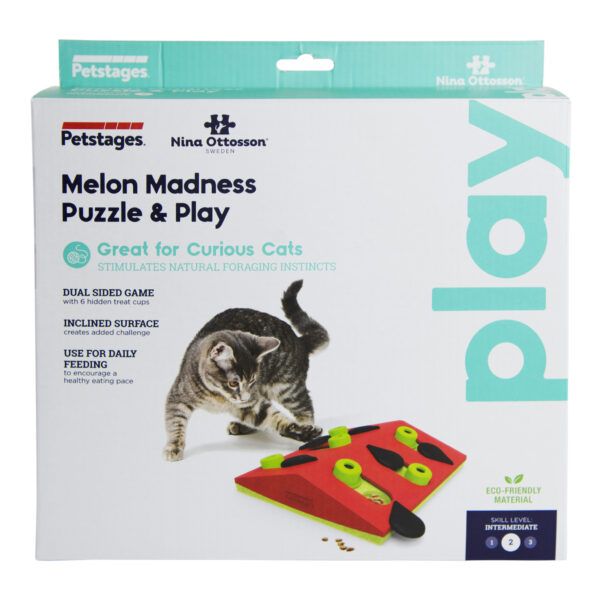 Petstages Cat Puzzle & Play Melon Madness