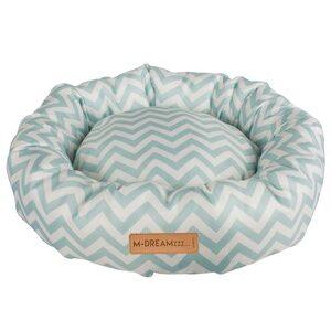 M-Pets Tasmanië Round Cushion blauw/wit