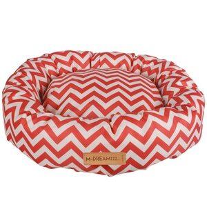 M-Pets Tasmanië Round Cushion rood/wit