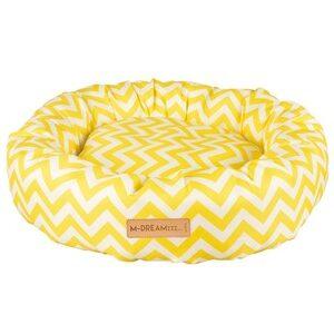 M-Pets Tasmanië Round Cushion geel/wit