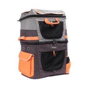 Two Tier Backpack Orange