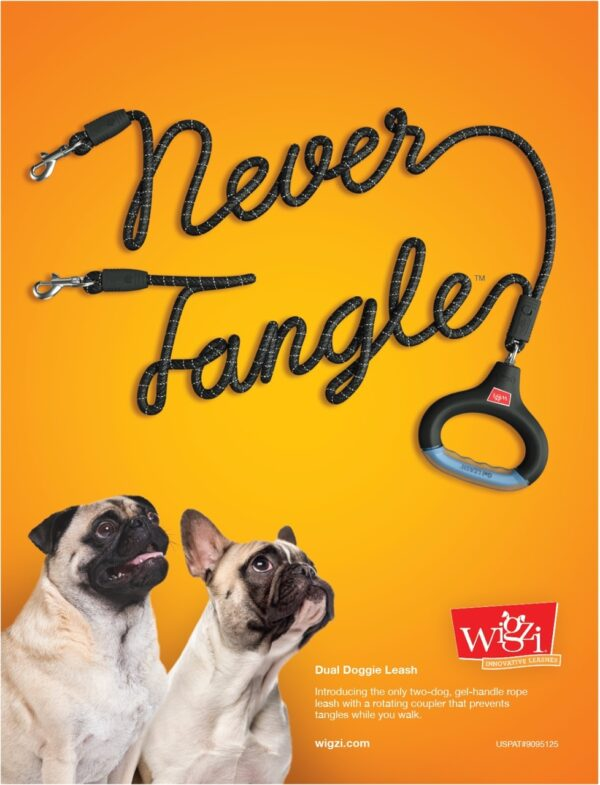 Wigzi Dual Doggie Gel Leash with Lights